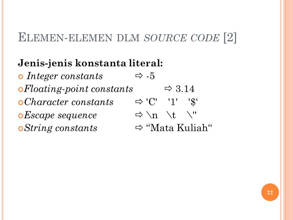 Elemen-elemen dlm source code [2]